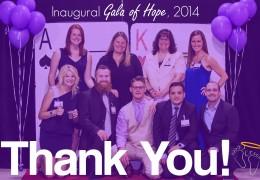 Inaugural Gala of Hope, 2014